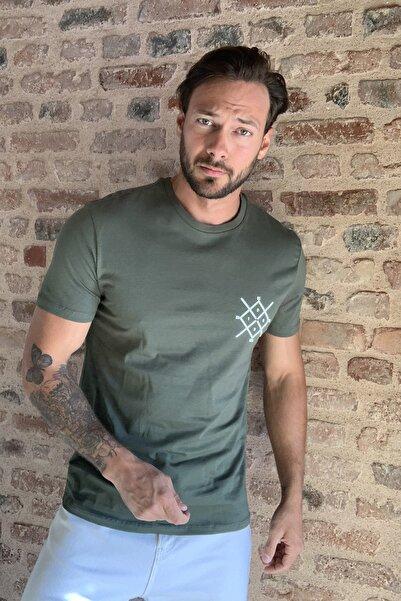 TRENDYOL MAN Haki Erkek Regular Fit T-Shirt TMNSS20TS0984