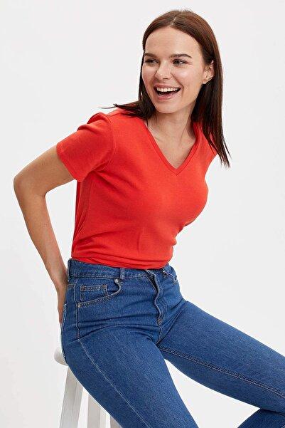 Kadın Kırmızı Uzun Kollu T-Shirt I1080AZ.20SP.RD30