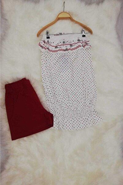 Haluk Bayram Baha Kadın Straplez Yazlık Pijama Takımı