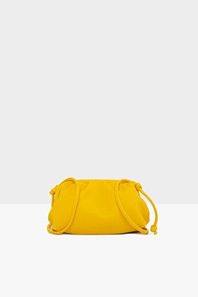 Bagmori Sarı Kadın Mini Bohça Çanta M000004501