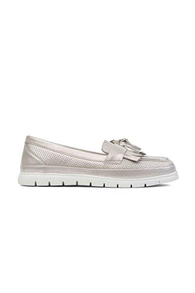 Greyder Kadın Gümüş Loafer Ayakkabı 0Y2CA29811