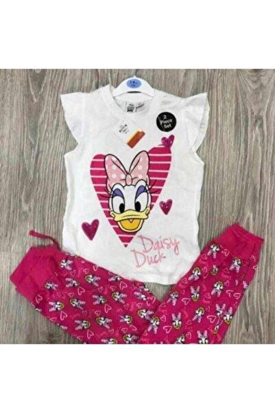 Disney Mickey Mouse Kız Çocuk T-shırt Ve Tayt Takım Pembe