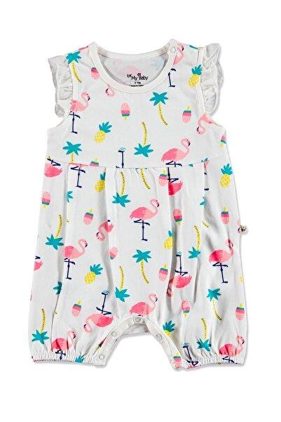For My Baby Flamingo Fırfırlı Salopet