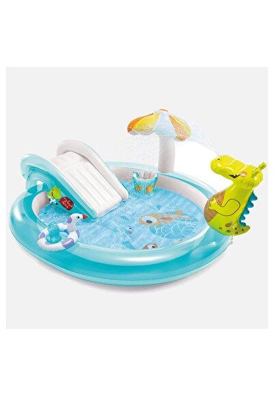 Oyuncakmatik Intex 57165 Şişme Çocuk Havuz Kaydıraklı Bahçe Oyun Merkezi 201x170x84 cm
