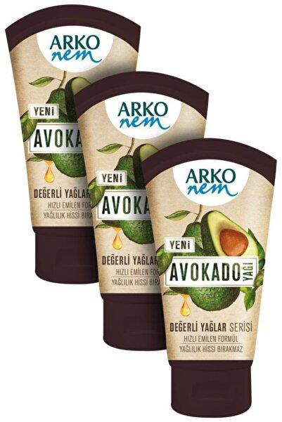 ARKO 3 X Nem Avakado Yağı Krem 60 ml Değerli Yağlar Serisi