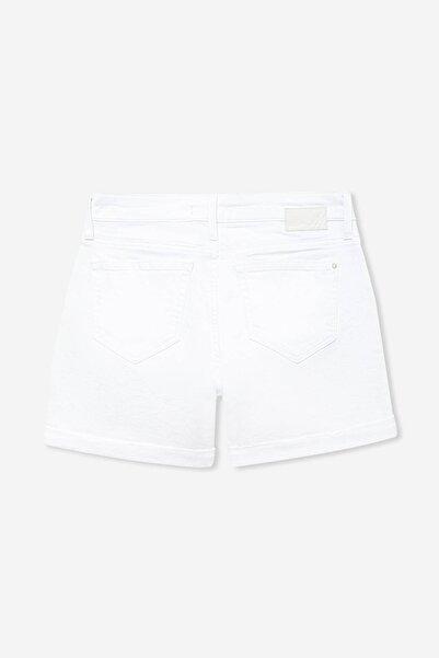 Kadın Pixie 90 s Beyaz Jean Şort 1437031849