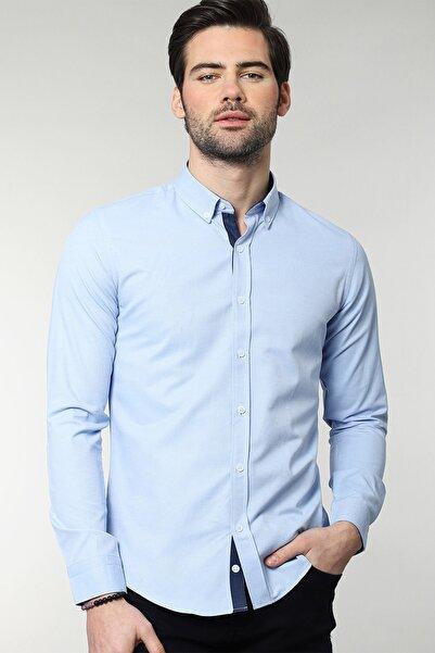 Slim Fit Düz Erkek Gömlek