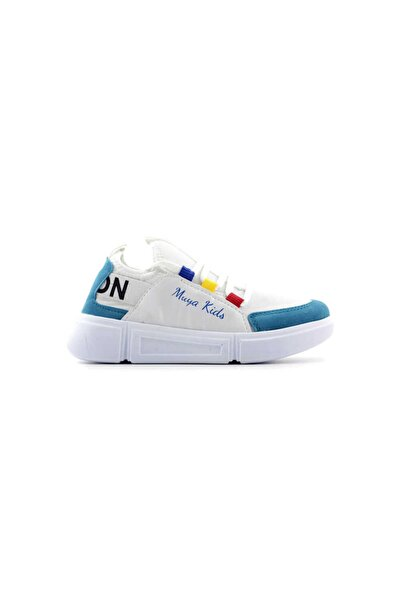 Muya Filet Çocuk Spor Ayakkabı-beyaz Mavi 89038