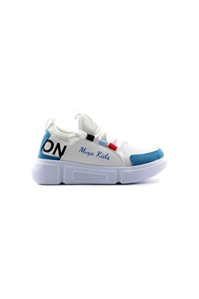 Muya Patik Çocuk Spor Ayakkabı-Beyaz Mavi 89044
