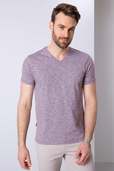Pierre Cardin Erkek Bordo Slim Fit T-Shirt