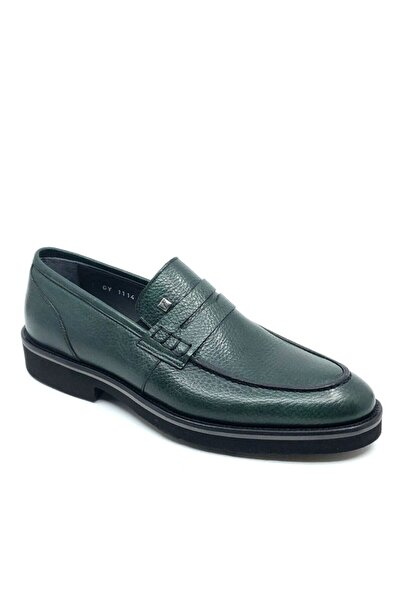 Fosco Hakiki Deri Erkek Ayakkabı Yeşil  1114 777