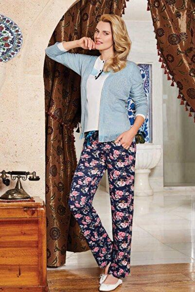 Berrak Kadın Turkuaz Üçlü Pijama Takımı