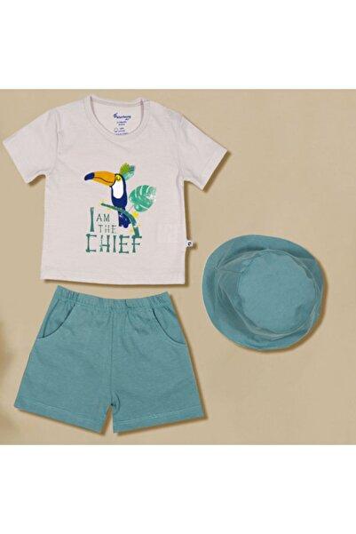 Blueberry Erkek Bebek 3lü Şapkalı Takım 00240