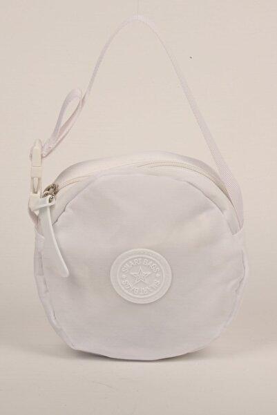 SMART BAGS Beyaz Takmatik Çapraz El Ve Omuz Çantası