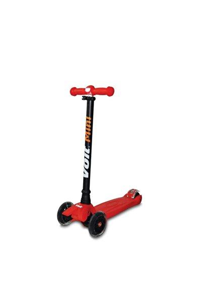Voit 218 Işıklı 3 Teker Mini Çocuk Scooter Kırmızı