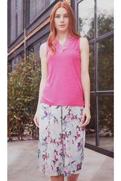 Haluk Bayram Askılı Kadın Pijama Takımı Fuşya Baha3552