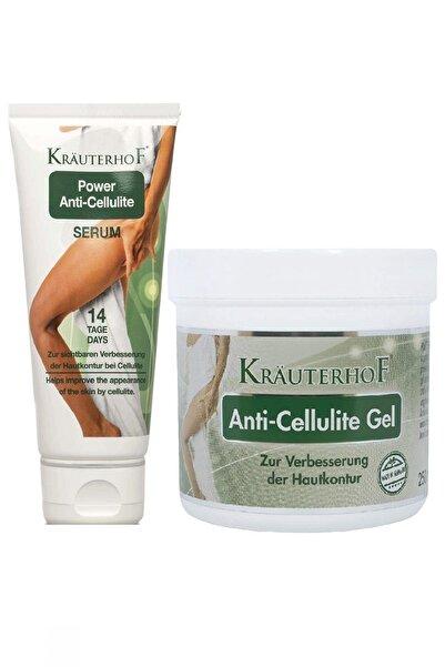 Krauterhof Anti-Cellulite Gel Selülit Jeli 250 ml + Serum 100 ml