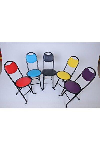 Bahçe Sandalyesi 5 Adet Katlanır Sandalye Balkon Sandalyesi