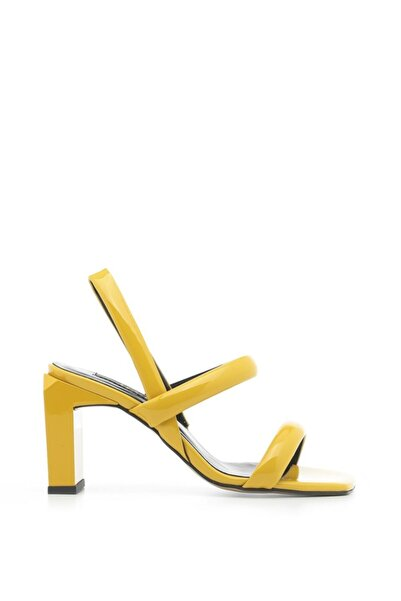 Niegro Bayan Sandalet Sarı Rugan