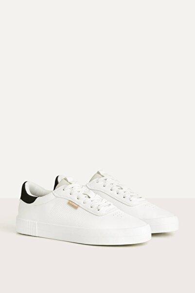 Bershka Erkek Beyaz Kontrast Spor Ayakkabı 12400660