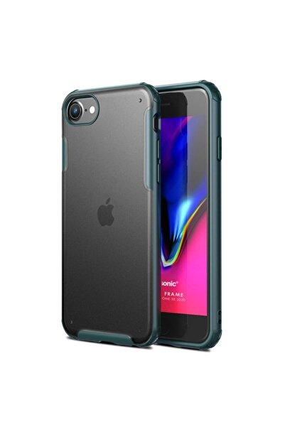 Microsonic Apple Iphone Se 2020 Kılıf Frosted Frame Yeşil