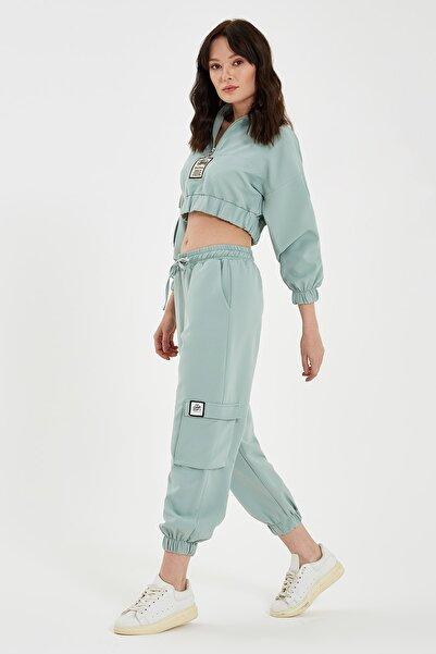 Nisan Triko Mint Yeşili Kargo Pantolon