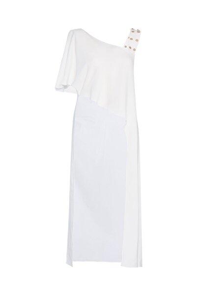 Selma Çilek Beyaz Metal Detaylı Tunik