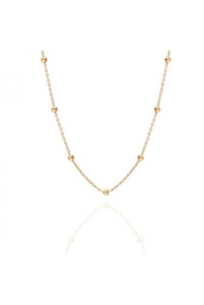 PinkGoldStore 65 Cm Satürn Top 14 Ayar Altın Zincir