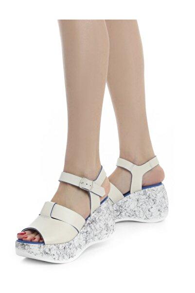 Kadın Gri Mavi Vero Sandalet