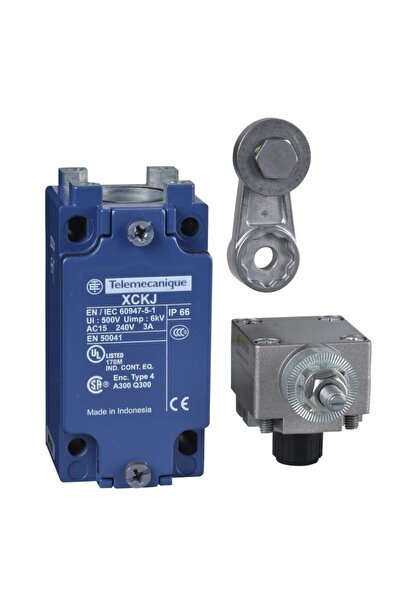 Schneider Electric Telemecanique Xckj10513, Açısal Hareketli, Metal Makaralı, Sınır Şalter, 1na+1nk