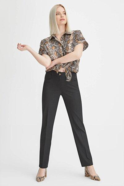 Gusto Kadın Siyah Boru Paça Pantolon 20YG001120