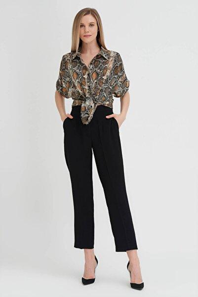 Gusto Kadın Siyah Klasik Krep Pantolon 20YG001121