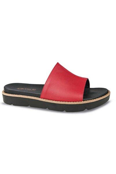 Ceyo 9966-4 Kırmızı Kadın Terlik