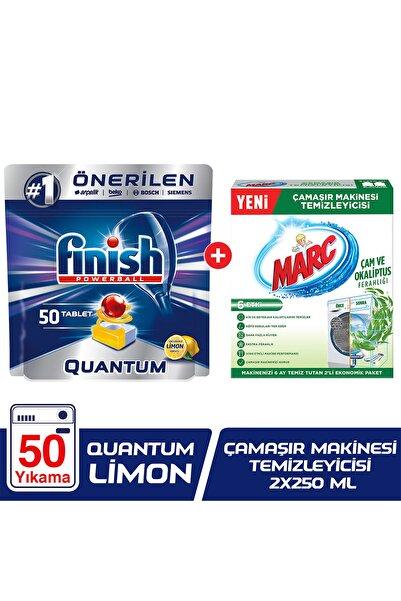 Finish Quantum 50 Bulaşık Makinesi Deterjanı Limon+Çamaşır Makinesi Temizleyici Çam ve Okaliptus Ferahlığı