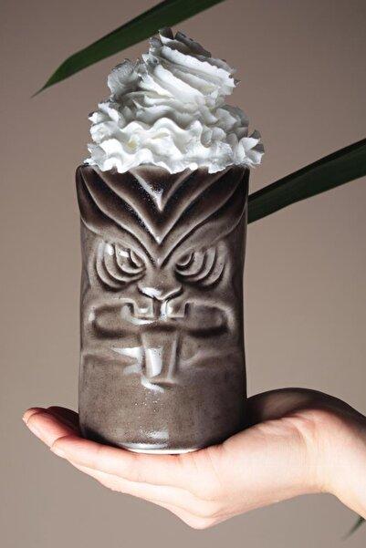 İkram Dünyası Tiki Mug Kupa 12,5*8 Cm Kahve