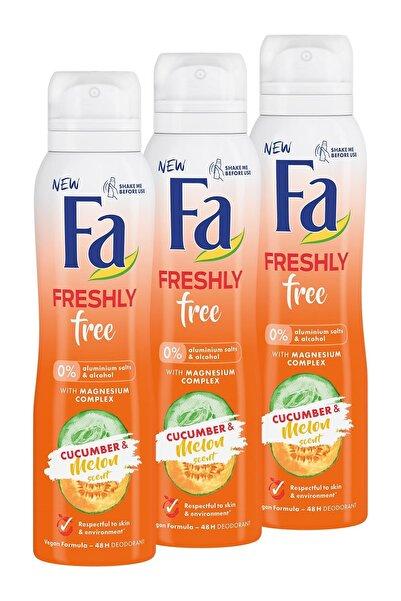 Fa Freshly Free Salatalık & Kavun Deosprey X 3 Adet