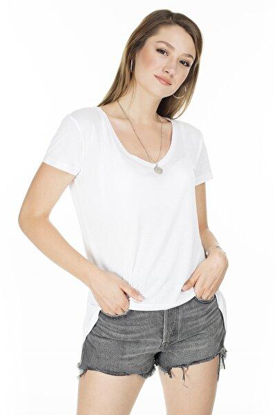 Lela Önü Kısa Arkası Uzun T Shirt KADIN T SHİRT 5411014