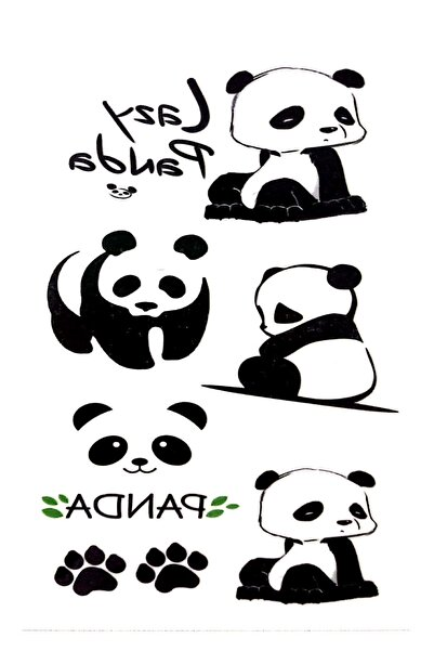 Parti dolabı Tattoo Geçici Dövme Sevimli Panda