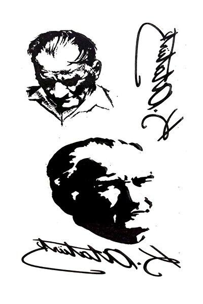 Parti dolabı Tattoo Geçici Dövme Atatürk Imza Dövmesi Modelleri