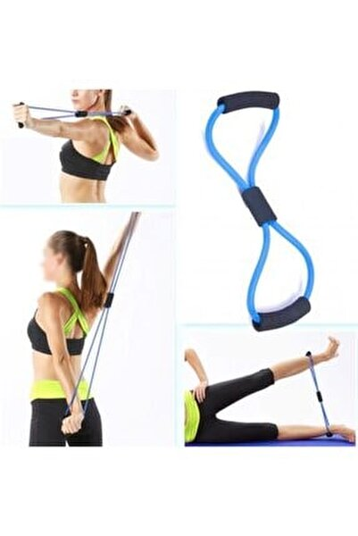 Plates Mavi Direnç Lastiği, Egzersiz Direnç Ipi, Plates Lastiği