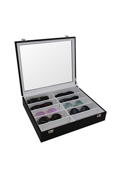 standmarket Gözlük Kutusu 10'lu Siyah Içi Beyaz