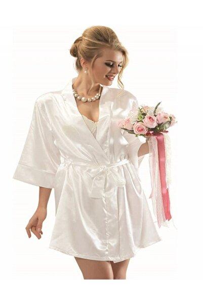 NBB Saten Bride Sabahlık Ekru 3232