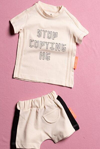 Elif Bebe Stop Copying Me Unisex Bebek Ve Çocuk Şortlu 2 Parça Takım