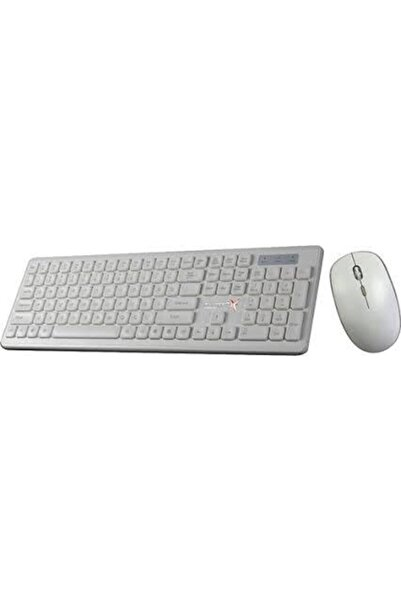 TURBOX Km-20 Wireless Multimedya Tr Q Klavye Mouse Set Beyaz