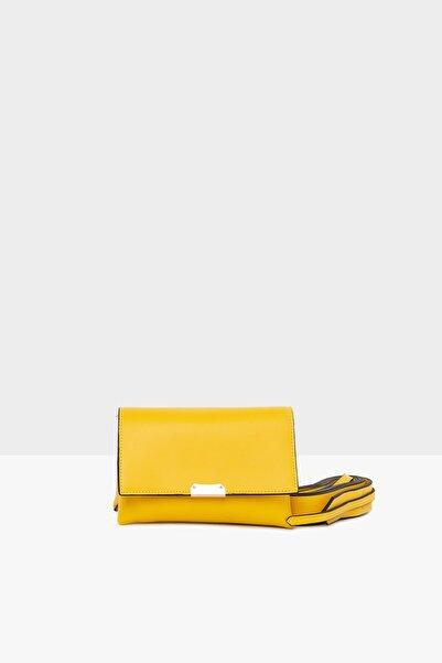 Bagmori Sarı Kadın Ikili Mini Çanta M000004545