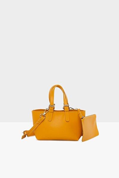 Bagmori Sarı Kadın Mini El Çantası M000004539