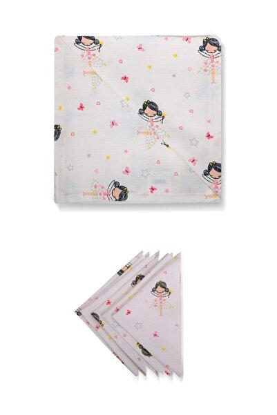 La'mina Baby Fairy Girl Müslin Örtü ve 5'li Omuz Bezi Set