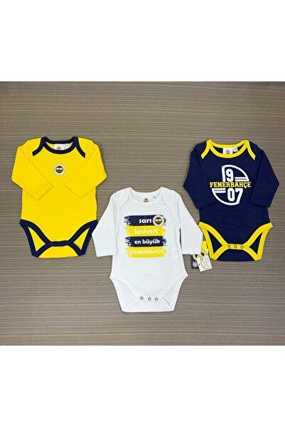 Fenerium Bebek Fenerbahçe Lisanslı 3'lü Uzun Kollu Body 1-18 Ay