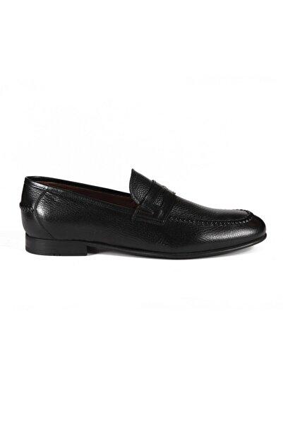 Sofia Baldi Ares Siyah Deri Erkek Klasik Ayakkabı