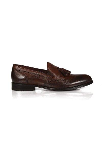 Sofia Baldi Erkek Ansona Taba Deri  Klasik Ayakkabı